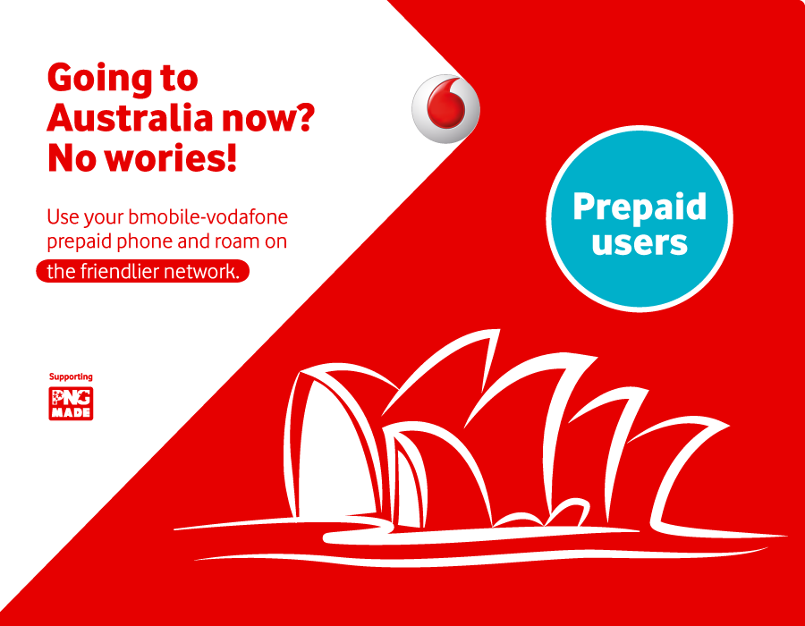 Use your bmobile-vodafone prepaid phone and roam on the friendlier network